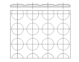 molet krążkowy wzór