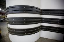Płyty gumowe ochronne na ściany i filary