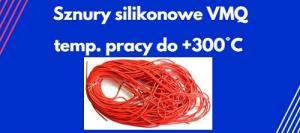 sznury silikonowe VMQ wysyokotemperaturowe
