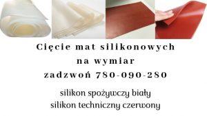 cięcie mat silikonowych na wymiar