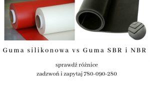 Guma silikonowa vs Guma SBR i NBR, zobacz różnice